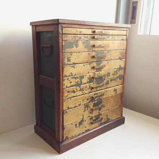 ヴィンテージ家具、古道具、チェスト、引き出し、造作家具、抽斗