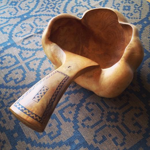 木工芸、刳り貫き、ハンドクラフト、北欧ヴィンテージ、作家もの、gunnarlarsson
