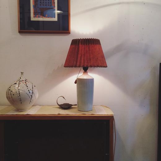 ヴィンテージ照明、間接照明、テーブルランプ、白磁
