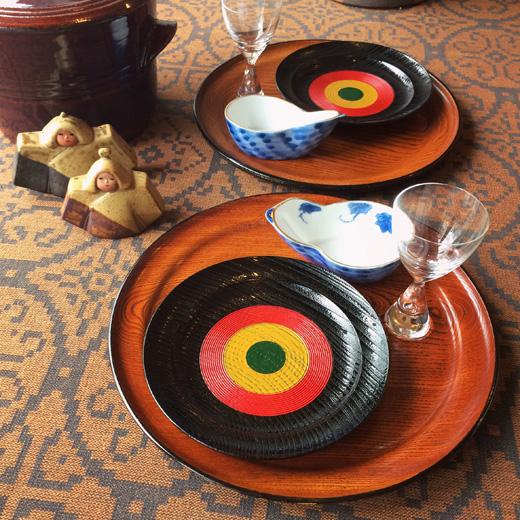 和食器、ヴィンテージ、欅、盆、独楽塗、漆器、銘々皿、和モダン、祝いの席