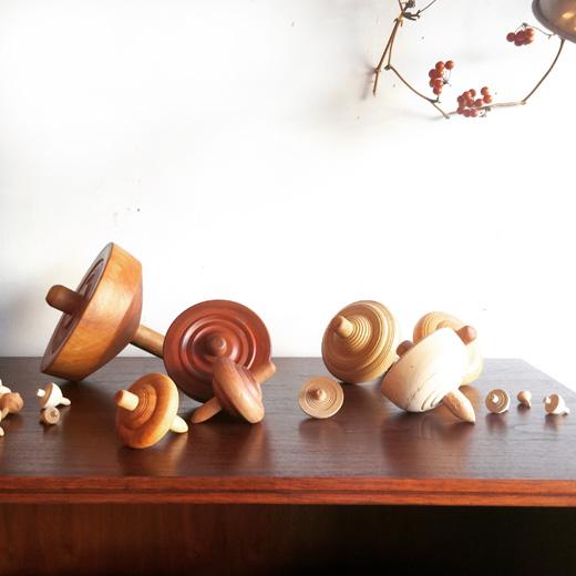 独楽、ヴィンテージ、投げ独楽、木工芸、モダンクラフト、ヴィンテージ