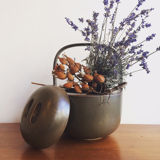 見立て、花器、北欧陶器、ヴィンテージ、茶道具