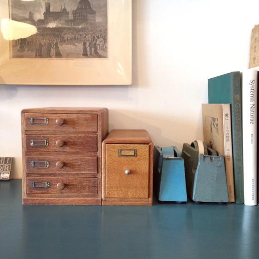 古道具、小引き出し、手紙入れ、名刺ホルダー、木製、ヴィンテージ、収納、整理整頓