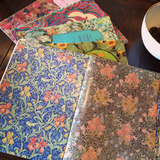 古本、ラッピングペーパー、図案集、パターン集、デザイン集、ウィリアムモリス、花柄、アールヌーボー、クラシックモダン、ヴィンテージブック
