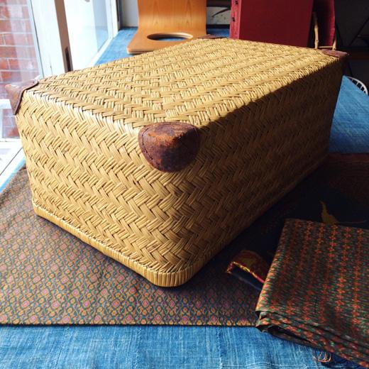 竹行李、行李、古道具、竹籠、竹工芸、モダンデザイン、和モダン、ジャパニーズモダン