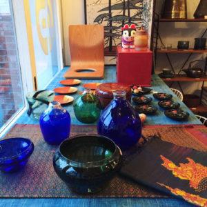 工芸、コレクション、ヴィンテージ、器、ガラス器、漆器、濱田能生、山田平安堂、絹織物、伝統工芸、クラフト