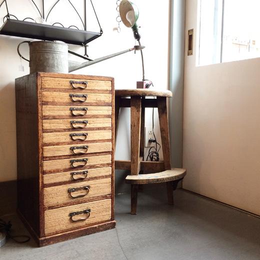 ヴィンテージ小引き出し、スモールチェスト、古道具、和モダン、引き出し