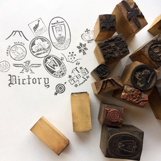 ヴィンテージ、レトロ、手彫りはんこ、スタンプ、古道具、文房具、ヴィンテージ雑貨