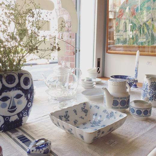 洋食器、ブルー&ホワイト、ヴィンテージ、北欧、青白、ローゼンタール、白磁、ガラス器