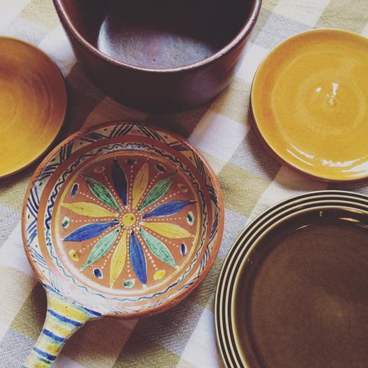 ヴィンテージ食器、オーブンウェア、テラコッタ