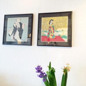 木版画、額絵、前川千帆、奥山儀八郎、童画