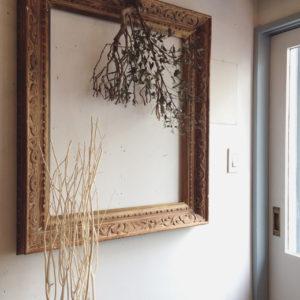 アンティーク、ヴィンテージ、額縁、木枠、木彫り、フレーム、建具、ウォールデコール、リノベーション