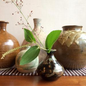 器、花器、クラフト、ヴィンテージ、フラワーベース、花あしらい、一輪挿し、焼き物、宗像窯、丹波焼、小代焼
