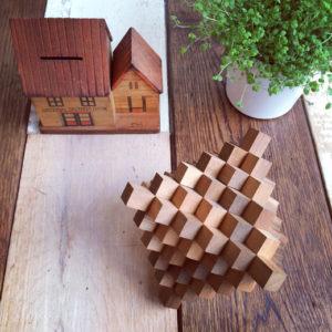 箱根寄木細工、山中組木、木の玩具、郷土玩具、パズル
