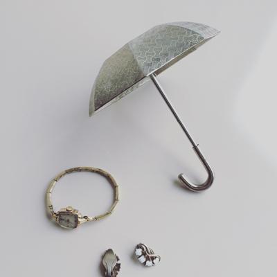 ヴィンテージ、傘、アクセサリートレー、オブジェ、小物入れ