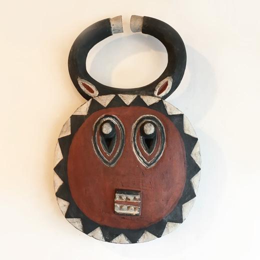 アフリカンマスク、プレプレ、ゴリ、バウレ族、コートジボワール、民芸、仮面、ヴィンテージ、アフリカンアート