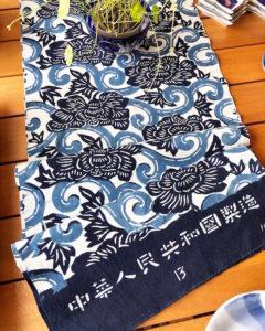 藍印花布、古布、反物、藍染、型染め、伝統工芸品、暖簾、浴衣帯、型染布