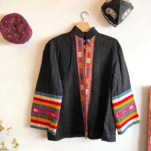 アカ族、民族衣装、上着、ジャケット、帽子、刺繍、トライバルアート