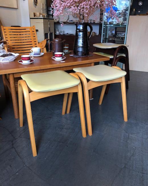 秋田木工、スツール、剣持勇、コーヒーテーブル、ジャパニーズモダン、ヴィンテージ家具