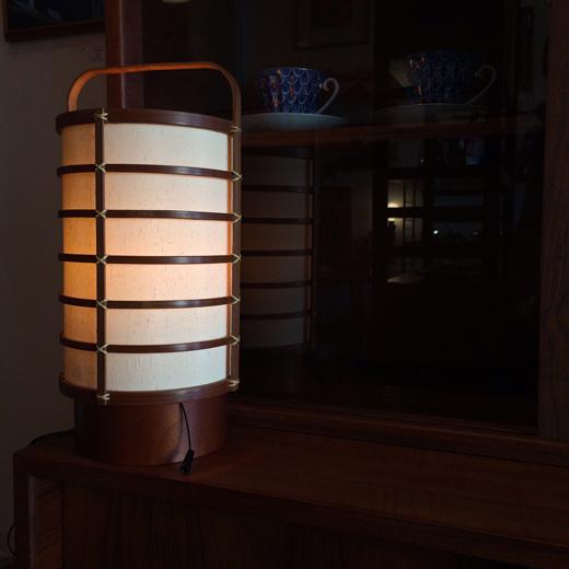 行灯、駿河竹千筋細工、和モダン照明、ヴィンテージ、クラフト