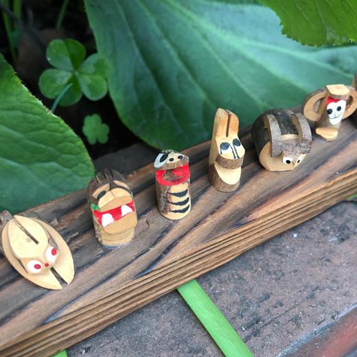十二支、干支、置物、木工芸、ハンドクラフト、ヴィンテージ、モダンクラフト、お正月準備