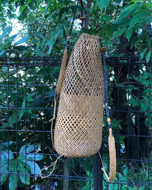 ヴィンテージバスケット、背負いかご、かごバッグ、籐かご、東南アジア、世界の民芸