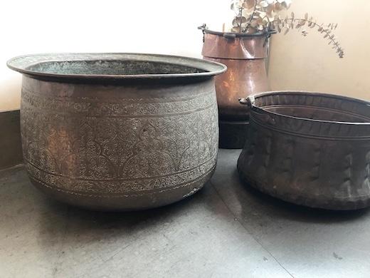 アンティーク、銅器、銅鍋、鉢カバー、民族雑貨、中東、bedouin、遊牧民族