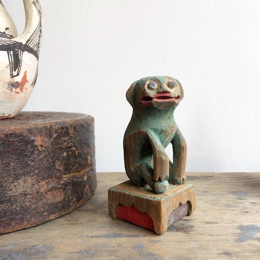 骨董、狛犬、木彫、アンティーク、古い狛犬
