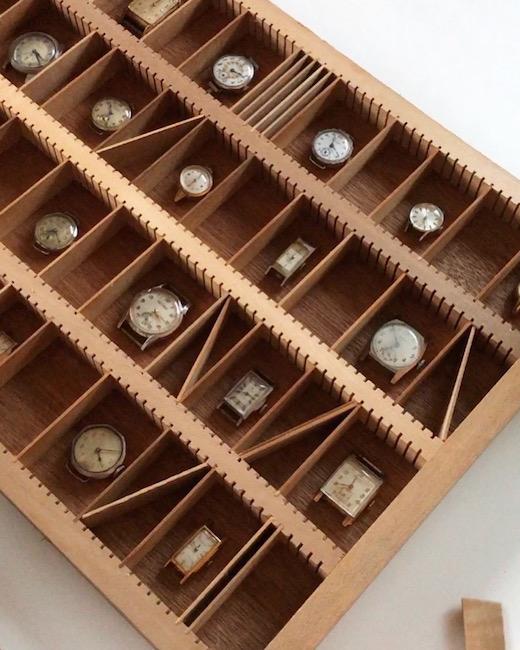 アンティーク、木製、プリンタートレイ、収納ケース、コレクションケース、古道具、ディスプレイ什器、活版印刷