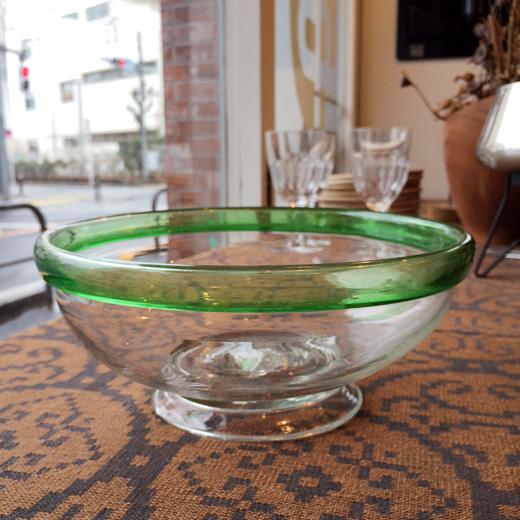 戦前硝子器、アンティーク硝子、金魚鉢