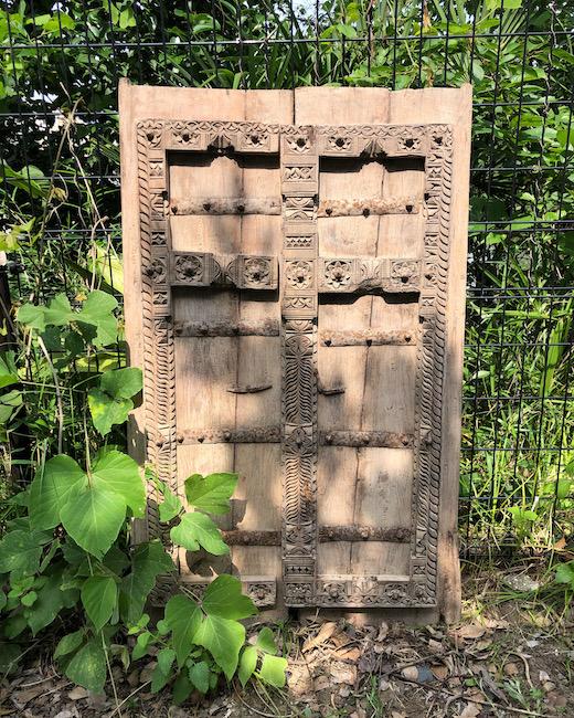 アンティークドア、扉、建具、プリミティブモダン、木彫、民族
