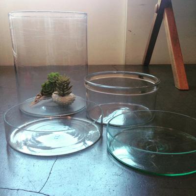 アンティークガラス、水盤、金魚鉢、戦前