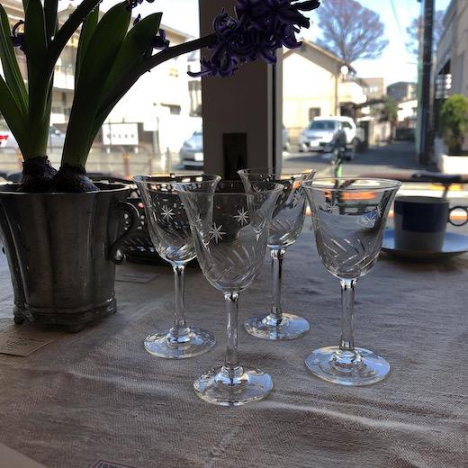 戦前ガラス、カットガラス、リキュールガラス、アンティーク