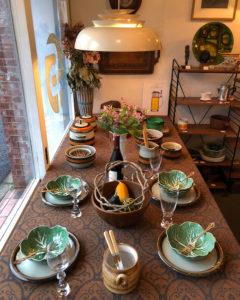 ナンセンス下北沢、ヴィンテージインテリア、北欧ヴィンテージ食器、秋のテーブルコーディネート、モダンインテリア