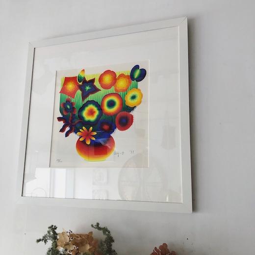 靉嘔、ay-o、シルクスクリーン、花たち、虹、1977年、前衛芸術