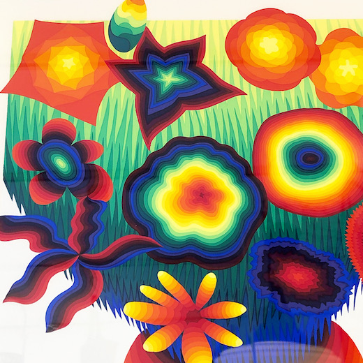 靉嘔、シルクスクリーン、花たち、1977、虹