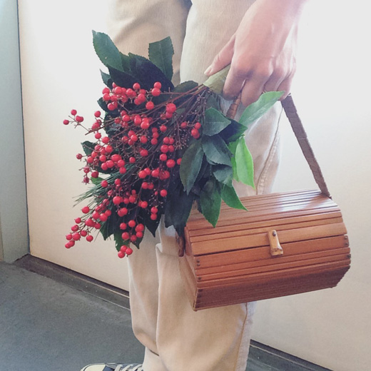 ヴィンテージバッグ、竹バッグ、和モダン、お正月の準備、晴れ着、パーティーバッグ
