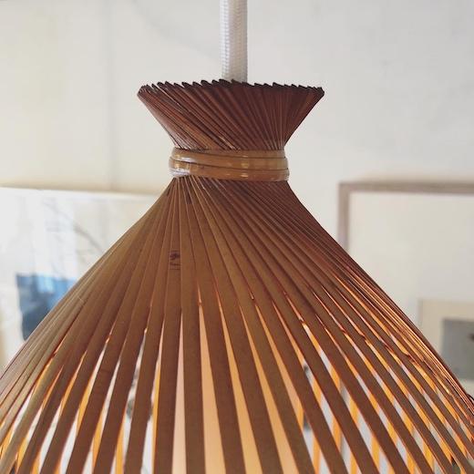 ヴィンテージ照明、竹照明、竹編、ナショナル、ペンダントライト、和モダン