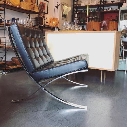 バルセロナチェア、ミースファンデルローエ、ノール社、ヴィンテージ、モダンデザイン、barcelonechair.vintage
