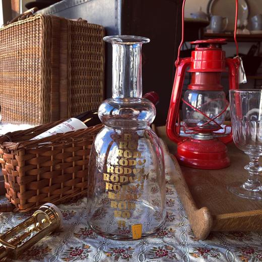 ワインカラフェ、北欧ガラス、スウェーデン、ヴィンテージ、赤ワイン