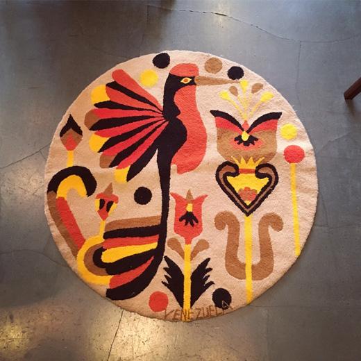 ベネゼエラ、絨毯、手工芸品、ヴィンテージ、織物、モダン、トロピカル