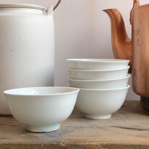 白磁茶杯、栓茶碗、中国骨董、古玩、茶器、アンティーク