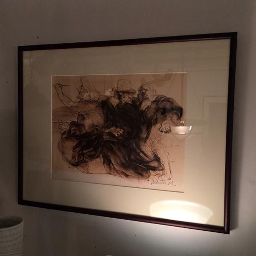 クロードワイズバッシュ、フランス、現代版画、ジクレー版画、セピア、モダンインテリア