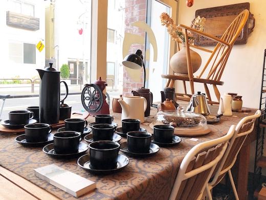 ナンセンス下北沢、ディスプレイ、コーヒー、ヴィンテージ食器、北欧、イギリス