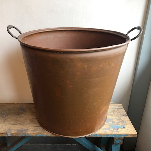 アンティーク、銅器、銅バケツ、金属工芸