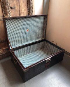衣装ケース、古道具、収納ケース、ボックス、行李、あじろ塗り、ヴィンテージボックス