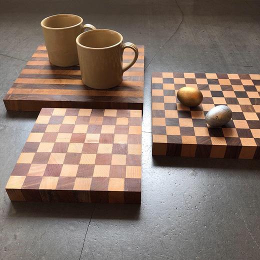 チェス盤、チェスボード、カッティングボード、敷板、花台、寄木細工、木板、ヴィンテージ