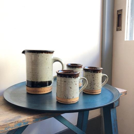 デンマーク陶芸家、helleallpass、マグカップ、ジャグ、現代陶芸、やきもの