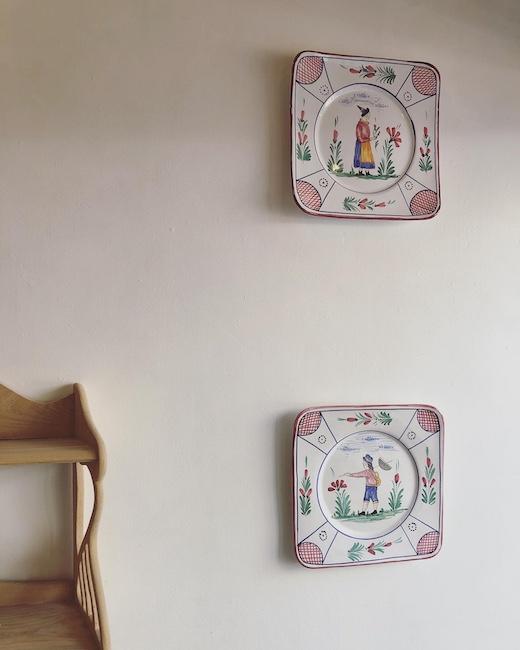 イタリア陶器、デルタ焼き、絵皿、ウォールプレート、ヴィンテージ