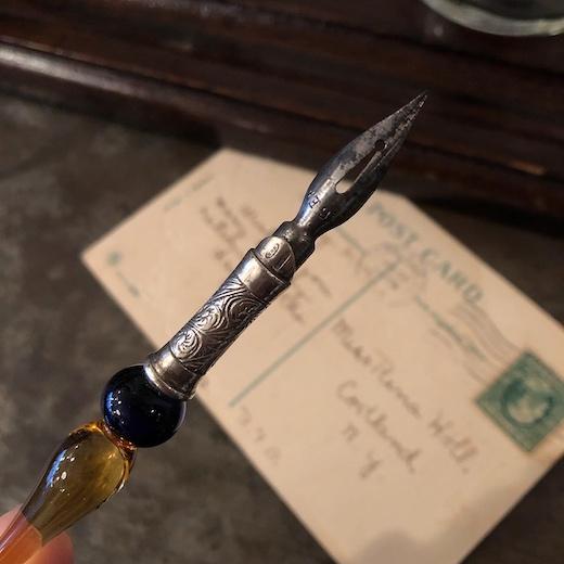 ガラスペン、付けペン、ヴェネツィアングラス、文房具、ヴィンテージ